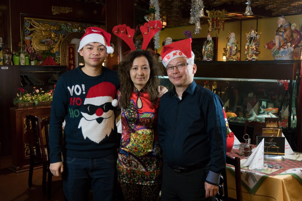 Weihnachtsfoto Familie Dinh 2017